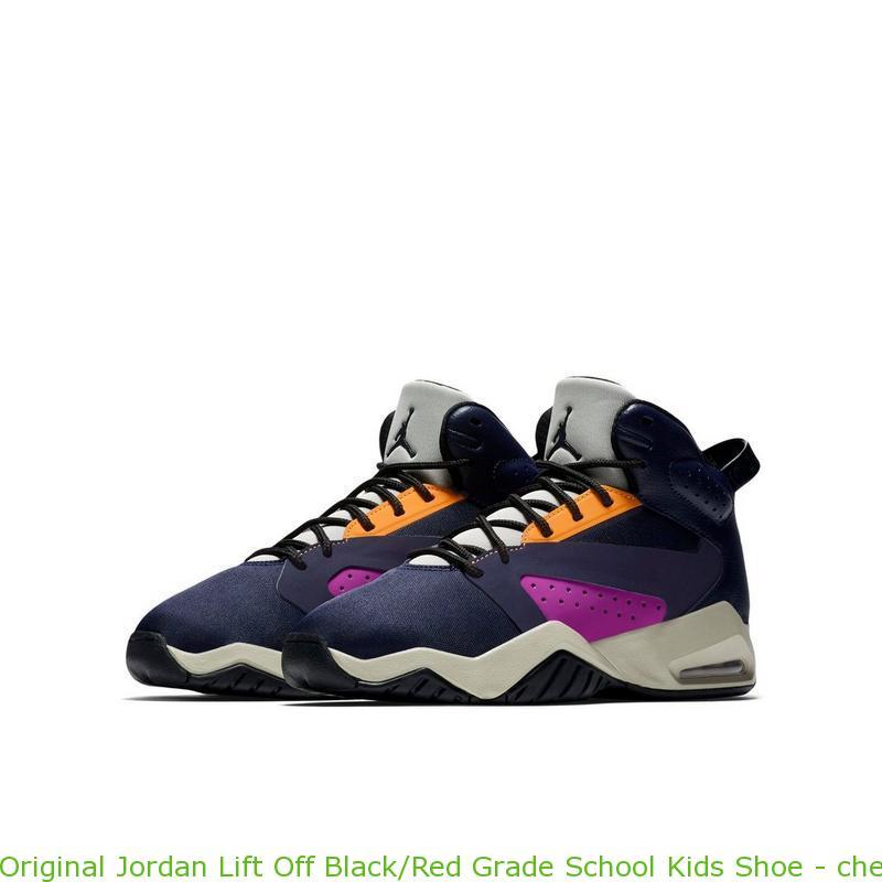 e890a3cb75f0b6 Original Jordan Lift Off Black Red Grade School Kids Shoe – cheap ...